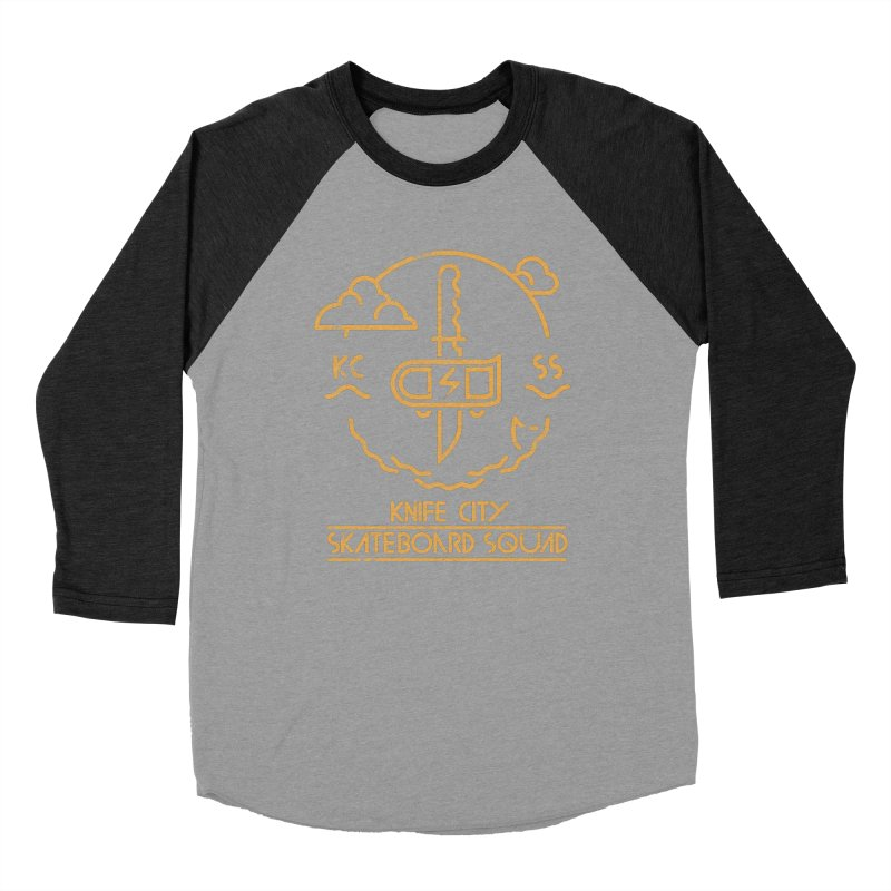 Knife City Skateboard Squad Women's Baseball Triblend T-Shirt by fightstacy