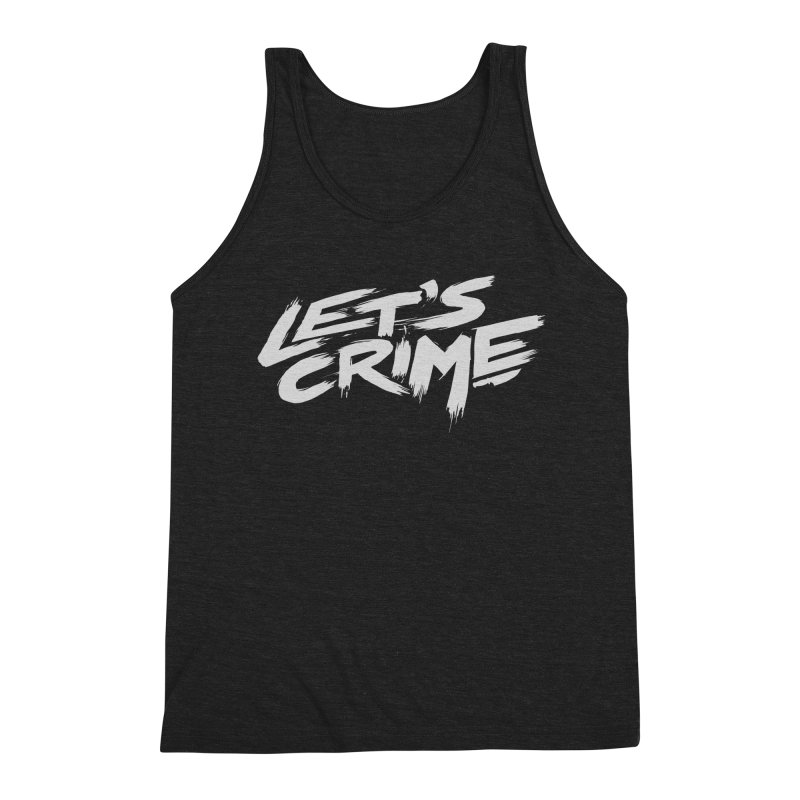 Let's Crime Men's Triblend Tank by fightstacy