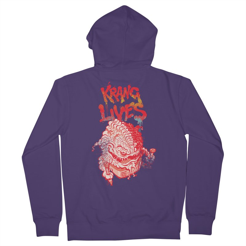 KRANG LIVES Women's Zip-Up Hoody by figzy8's Artist Shop