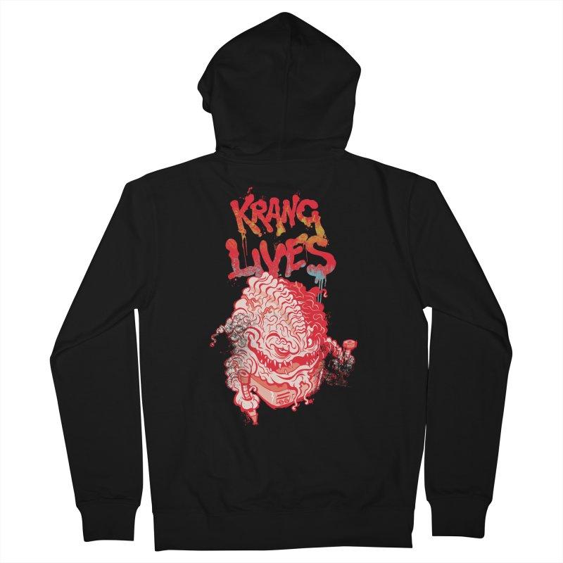 KRANG LIVES Men's Zip-Up Hoody by figzy8's Artist Shop