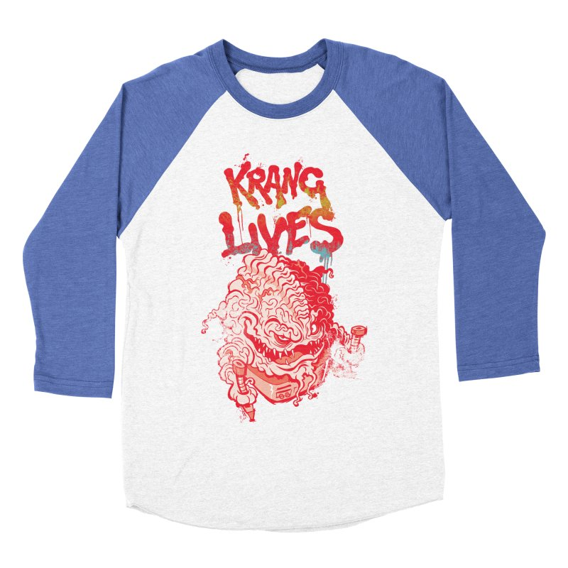 KRANG LIVES Men's Baseball Triblend Longsleeve T-Shirt by figzy8's Artist Shop