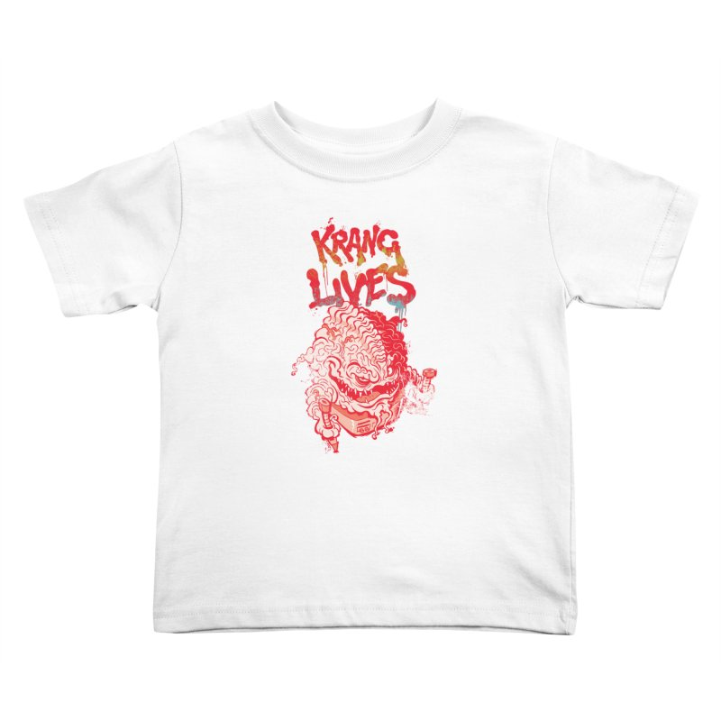 KRANG LIVES Kids Toddler T-Shirt by figzy8's Artist Shop