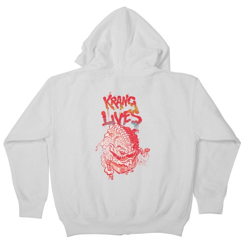 KRANG LIVES Kids Zip-Up Hoody by figzy8's Artist Shop