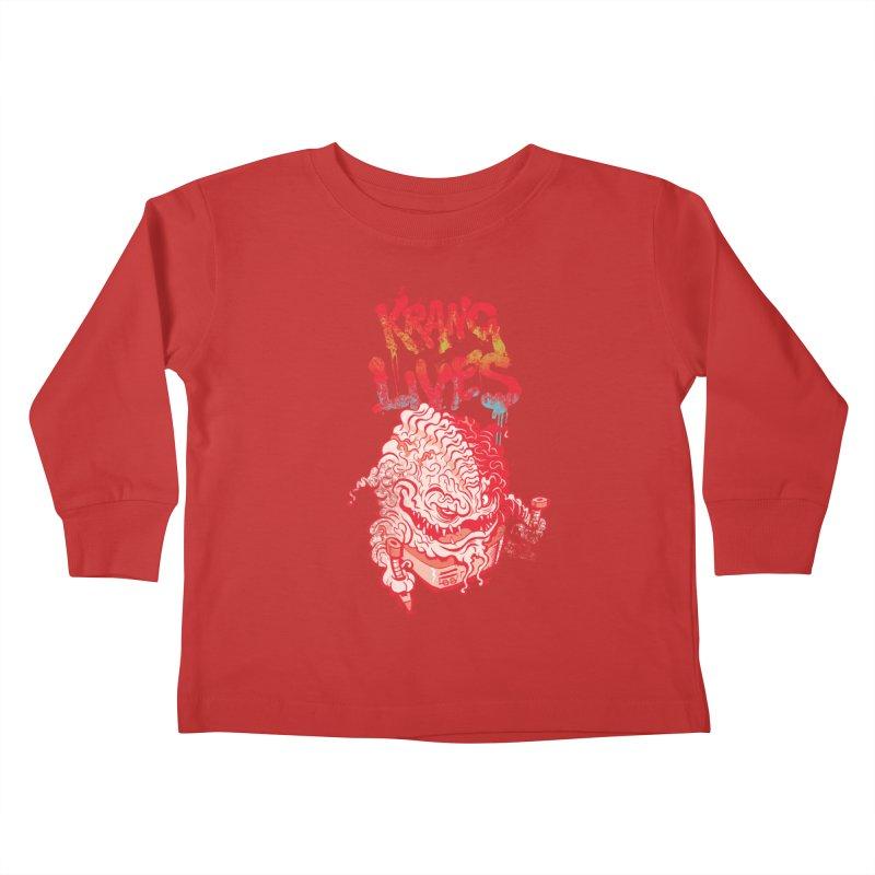 KRANG LIVES Kids Toddler Longsleeve T-Shirt by figzy8's Artist Shop