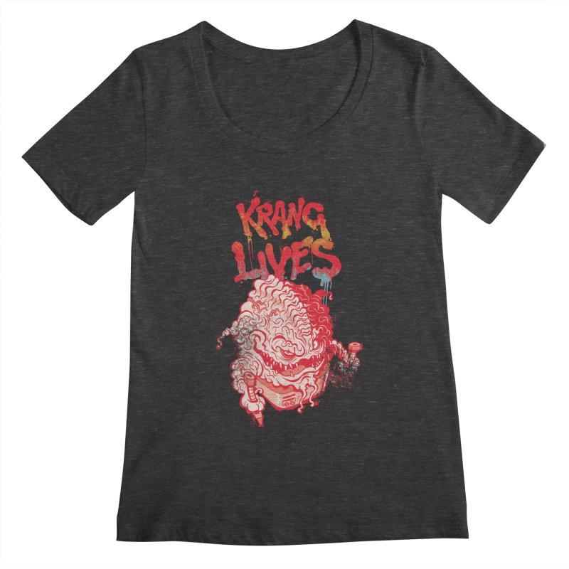 KRANG LIVES Women's Scoopneck by figzy8's Artist Shop