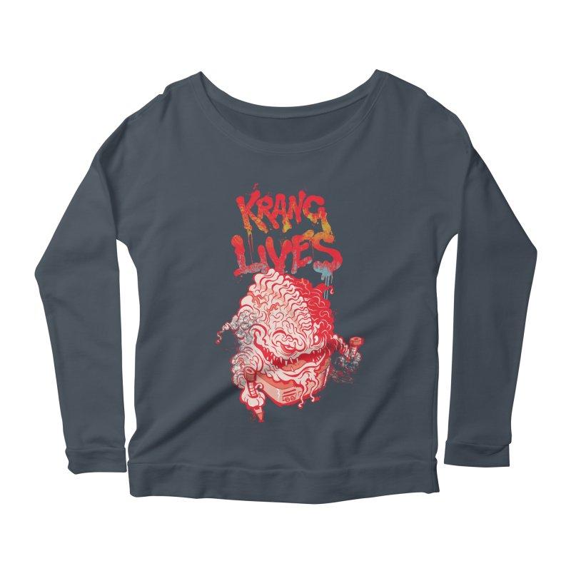 KRANG LIVES Women's Longsleeve Scoopneck  by figzy8's Artist Shop