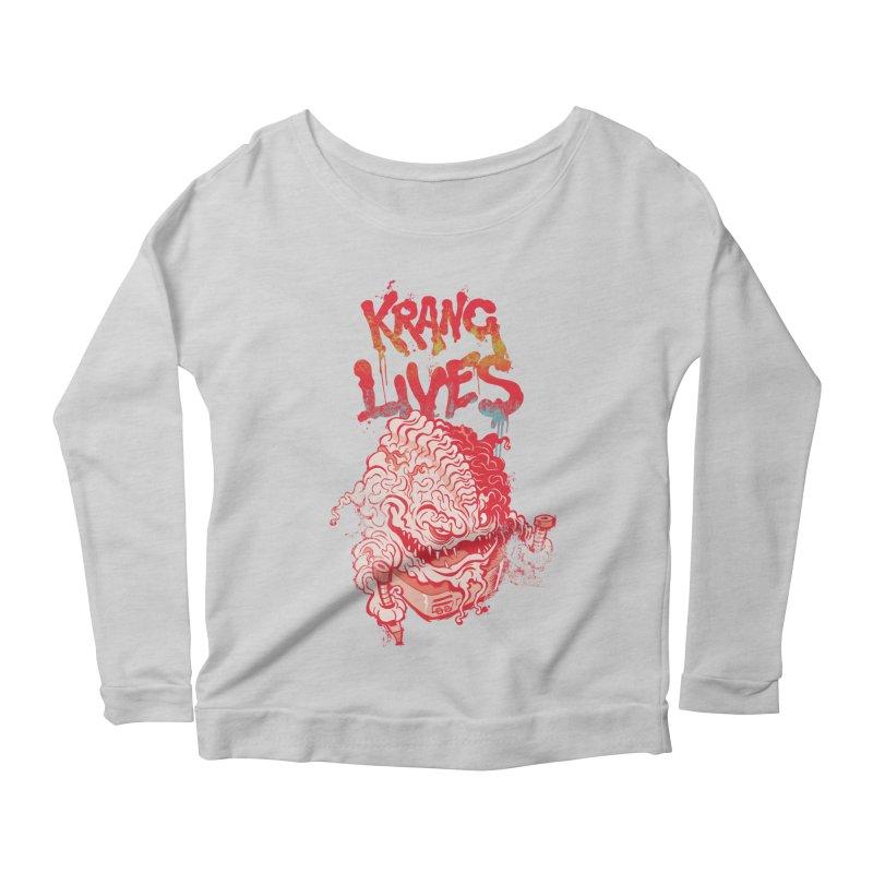 KRANG LIVES Women's Scoop Neck Longsleeve T-Shirt by figzy8's Artist Shop