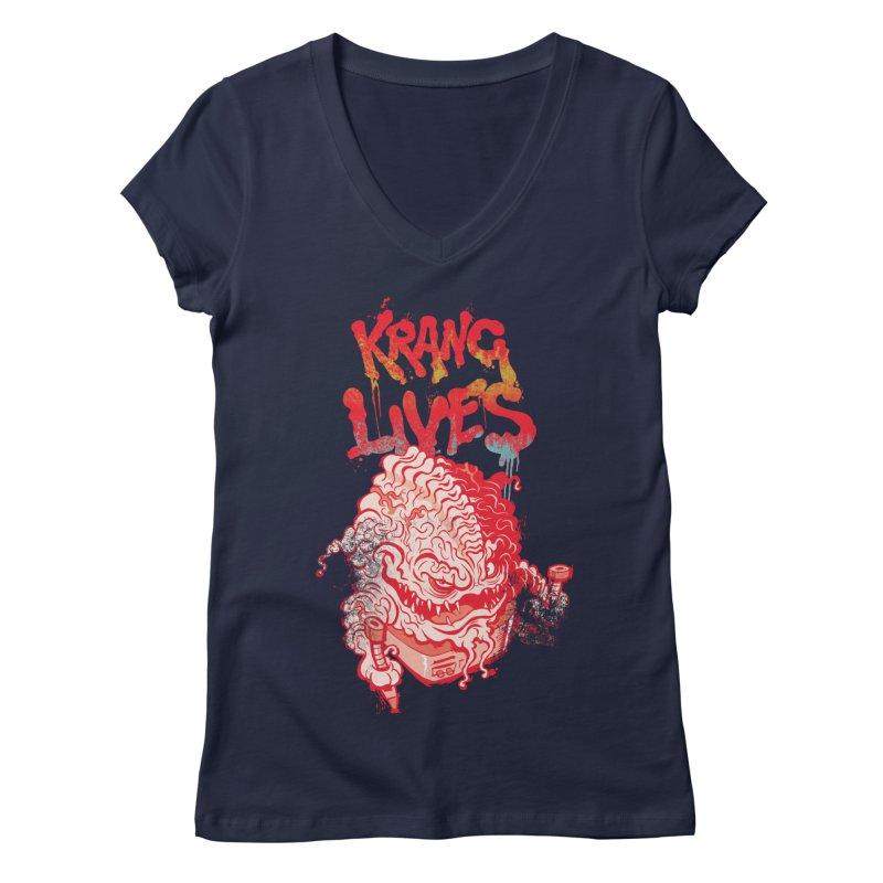 KRANG LIVES Women's V-Neck by figzy8's Artist Shop