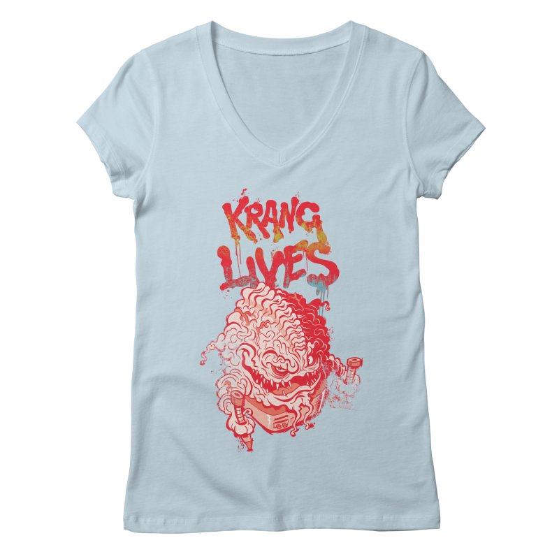KRANG LIVES Women's Regular V-Neck by figzy8's Artist Shop
