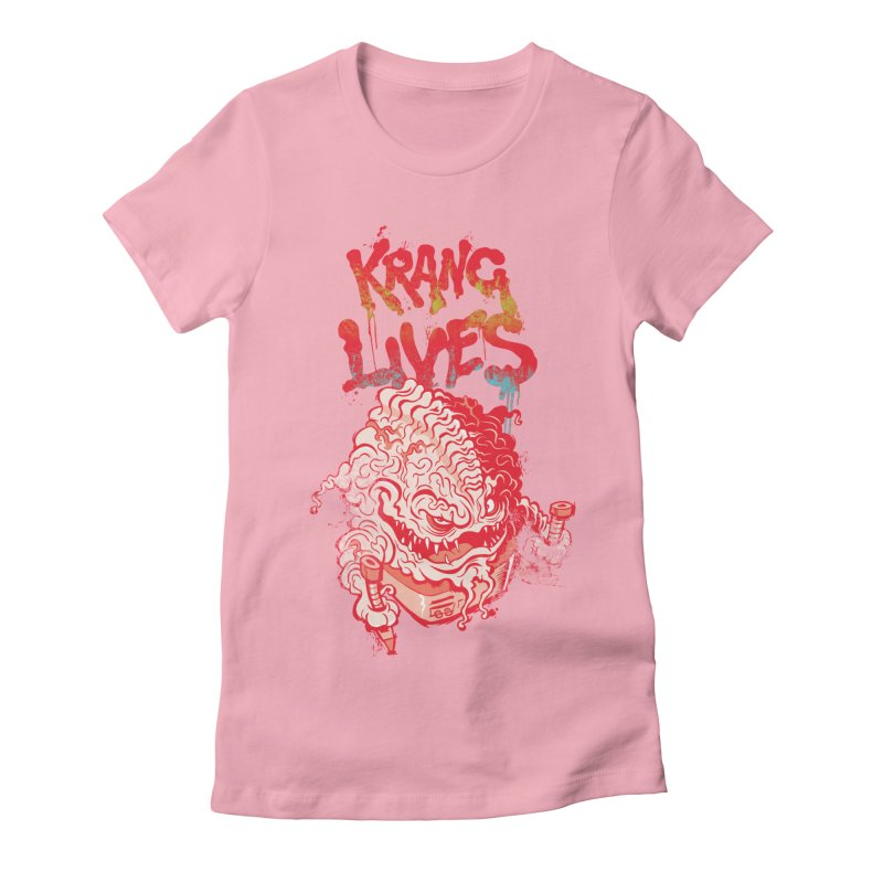 KRANG LIVES Women's Fitted T-Shirt by figzy8's Artist Shop
