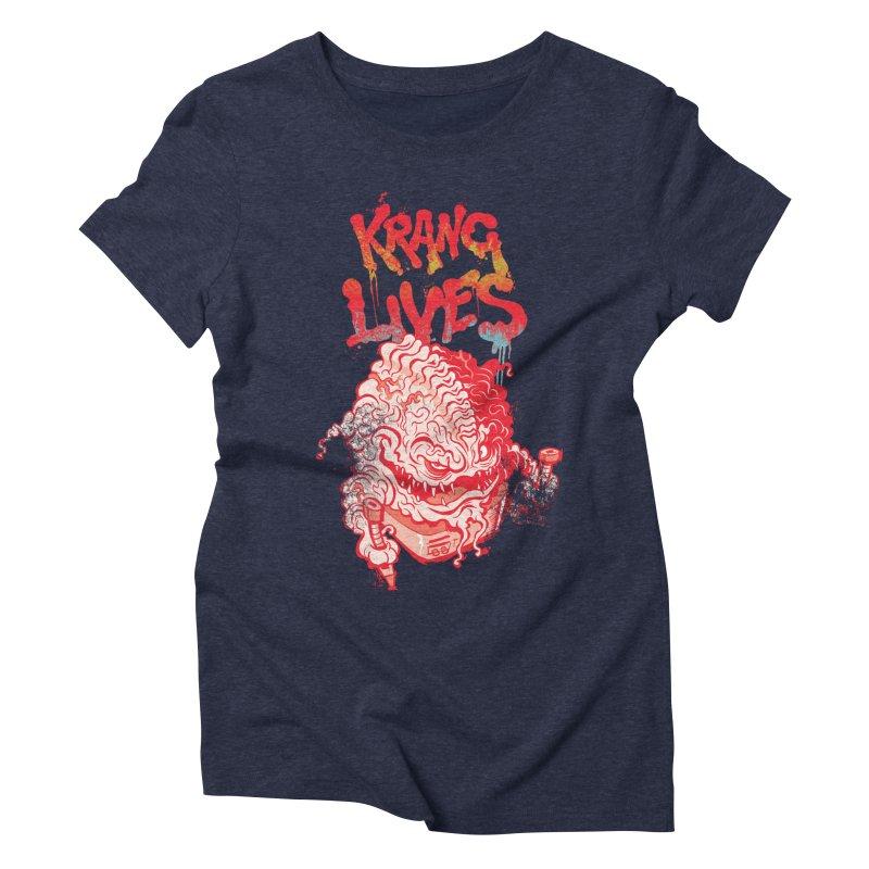 KRANG LIVES Women's Triblend T-shirt by figzy8's Artist Shop