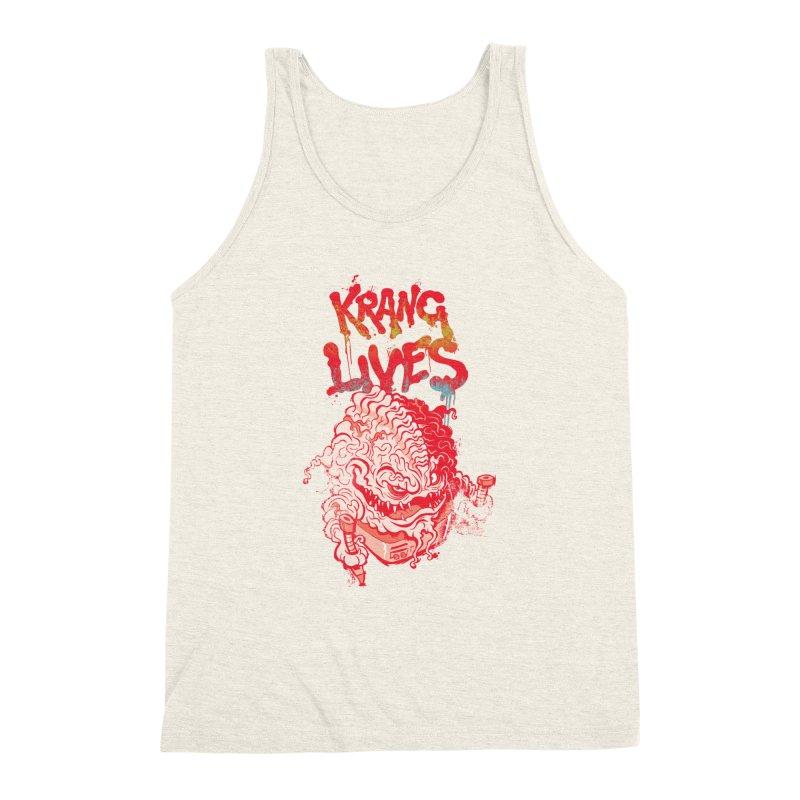 KRANG LIVES Men's Triblend Tank by figzy8's Artist Shop