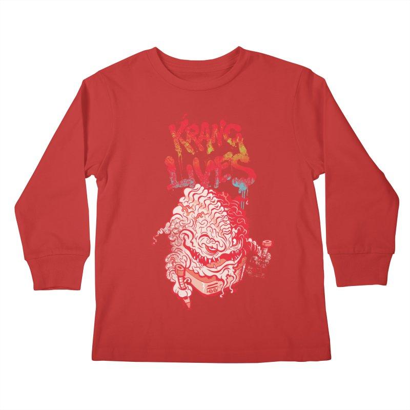 KRANG LIVES Kids Longsleeve T-Shirt by figzy8's Artist Shop