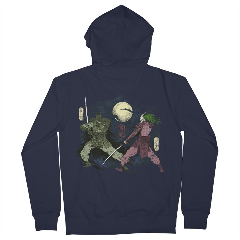 FEUDAL DARK KNIGHT Men's French Terry Zip-Up Hoody by figzy8's Artist Shop