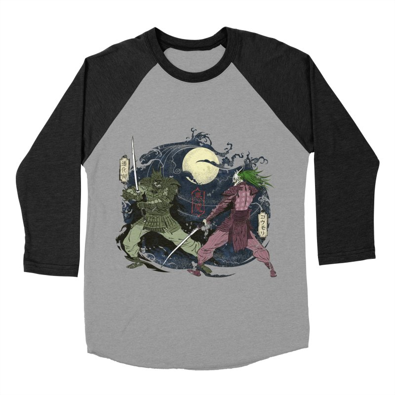 FEUDAL DARK KNIGHT Men's Baseball Triblend T-Shirt by figzy8's Artist Shop