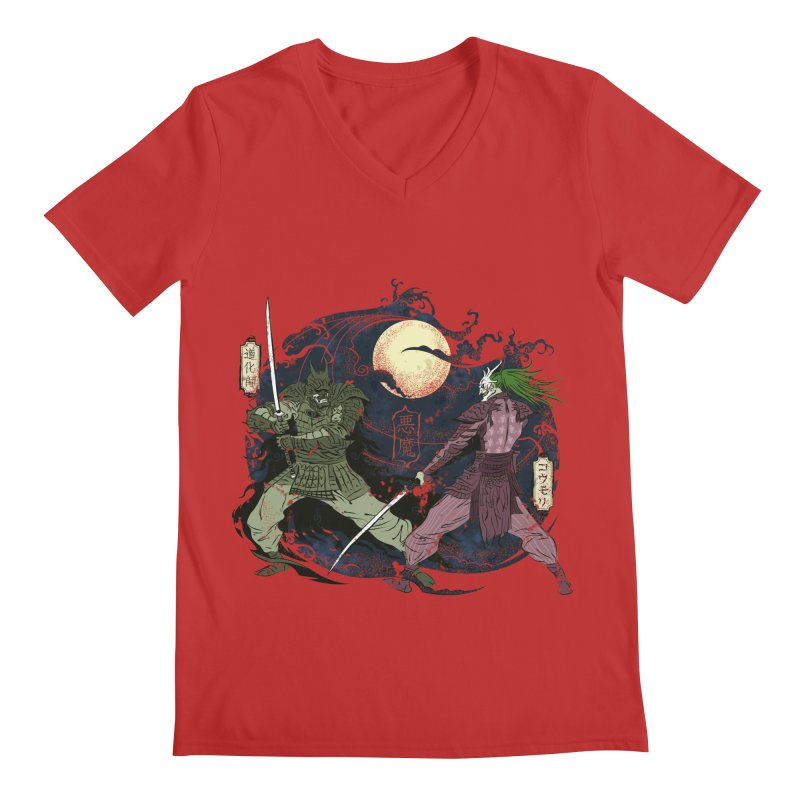 FEUDAL DARK KNIGHT Men's V-Neck by figzy8's Artist Shop