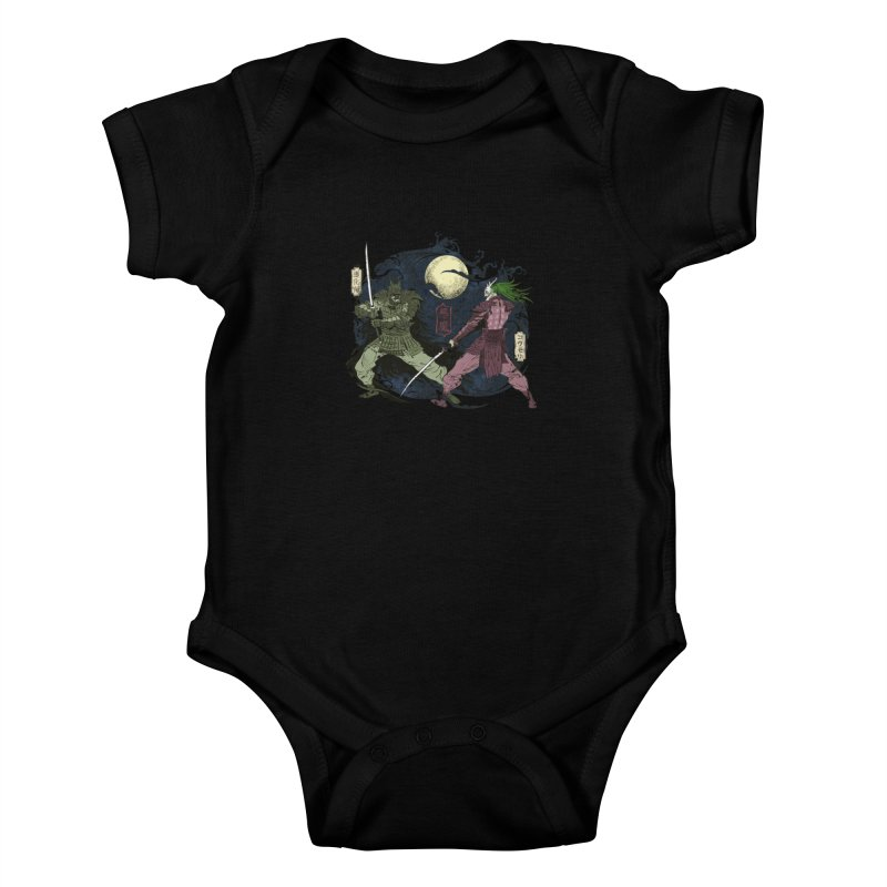 FEUDAL DARK KNIGHT Kids Baby Bodysuit by figzy8's Artist Shop