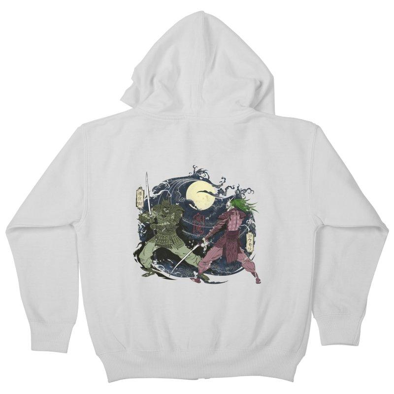 FEUDAL DARK KNIGHT Kids Zip-Up Hoody by figzy8's Artist Shop