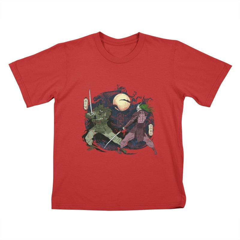 FEUDAL DARK KNIGHT Kids T-Shirt by figzy8's Artist Shop