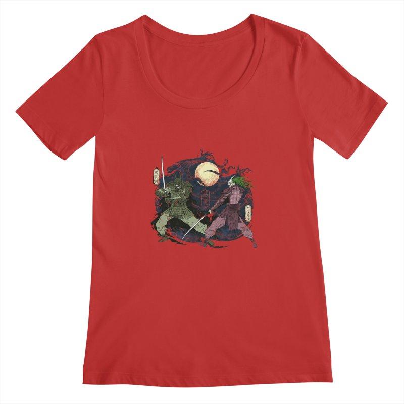 FEUDAL DARK KNIGHT Women's Scoopneck by figzy8's Artist Shop