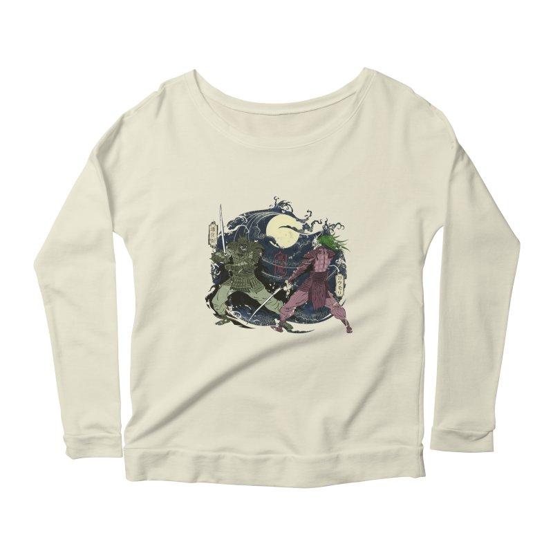 FEUDAL DARK KNIGHT Women's Scoop Neck Longsleeve T-Shirt by figzy8's Artist Shop