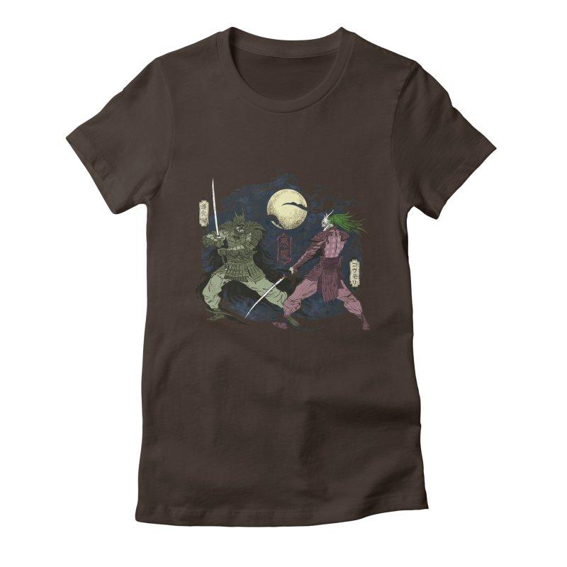 FEUDAL DARK KNIGHT Women's Fitted T-Shirt by figzy8's Artist Shop