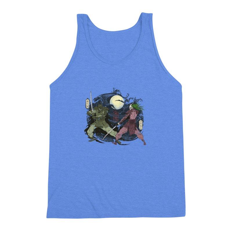 FEUDAL DARK KNIGHT Men's Triblend Tank by figzy8's Artist Shop