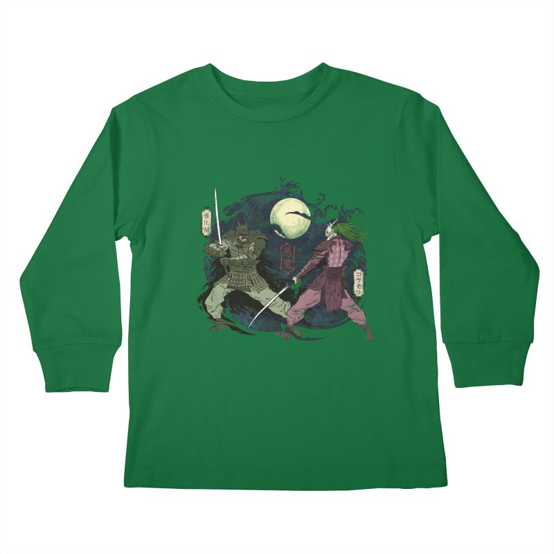 FEUDAL DARK KNIGHT Kids Longsleeve T-Shirt by figzy8's Artist Shop