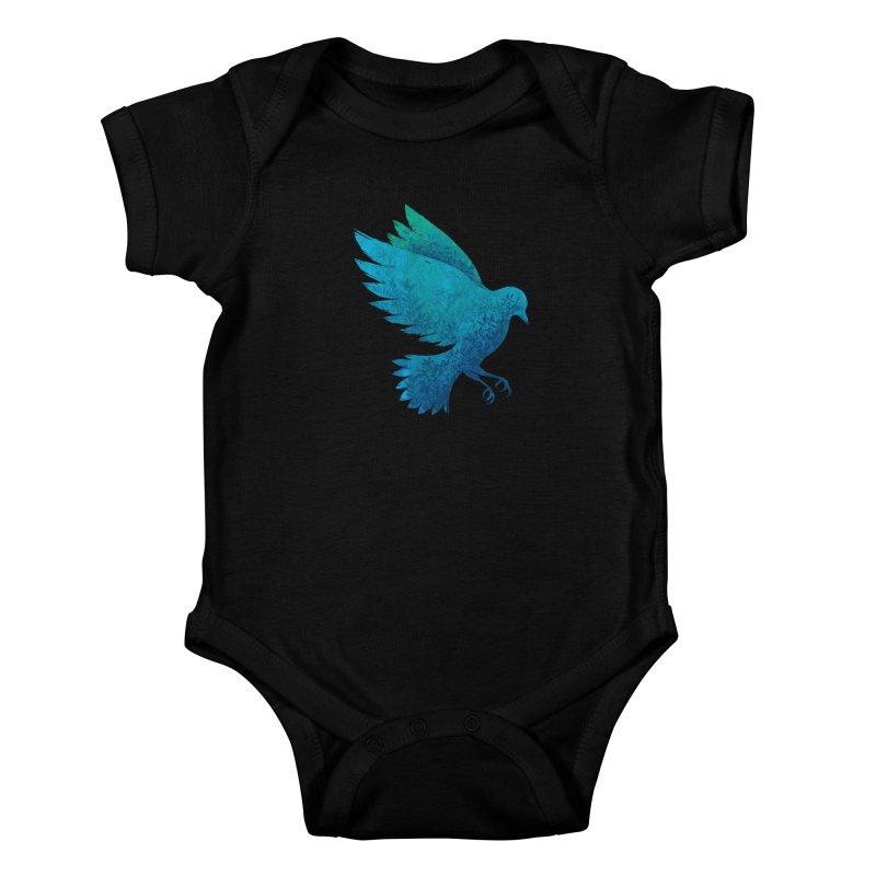 Birdy Bird Kids Baby Bodysuit by Fil Gouvea's Artist Shop