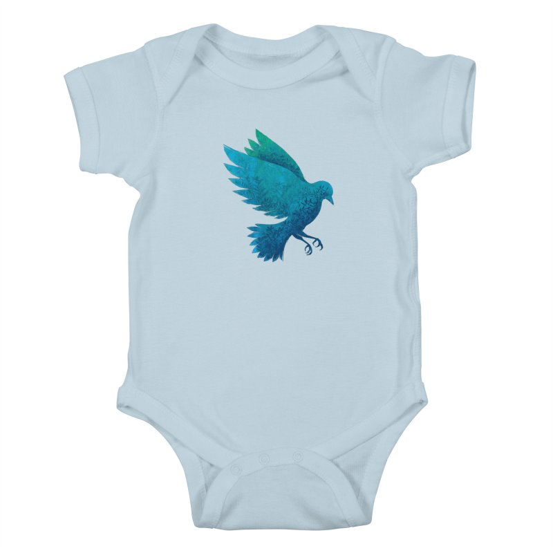 Birdy Bird Kids Baby Bodysuit by Fil Gouvea's Artist Shop