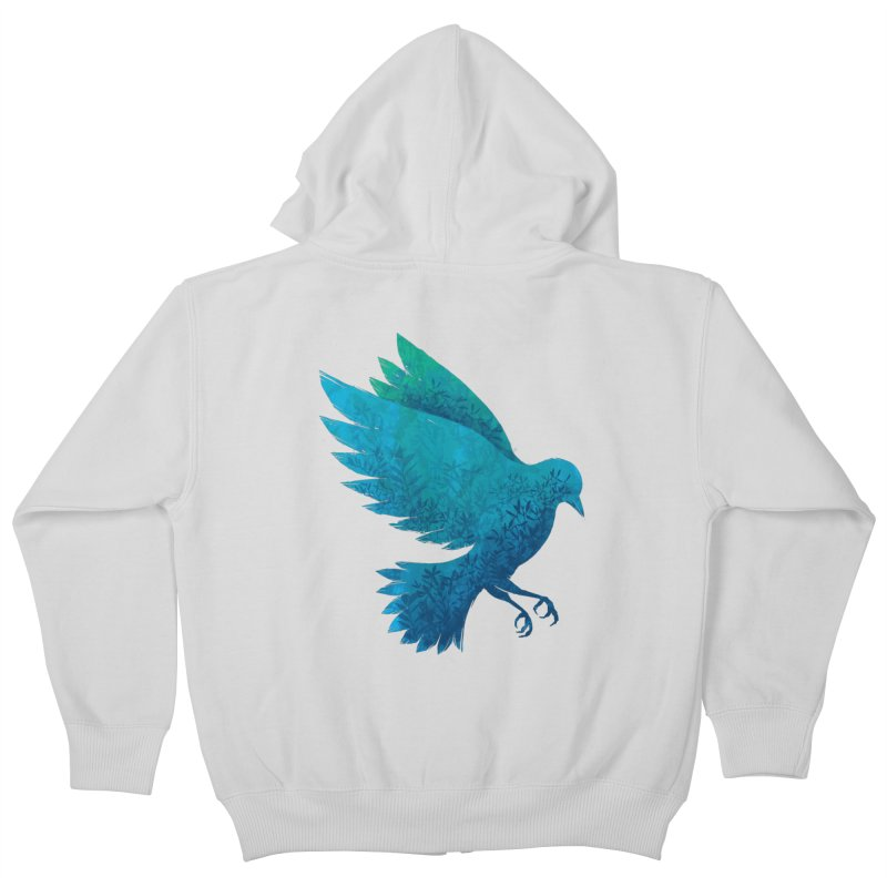 Birdy Bird Kids Zip-Up Hoody by Fil Gouvea's Artist Shop