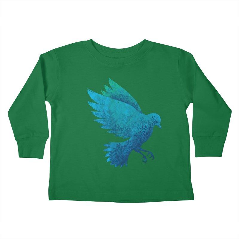 Birdy Bird Kids Toddler Longsleeve T-Shirt by Fil Gouvea's Artist Shop