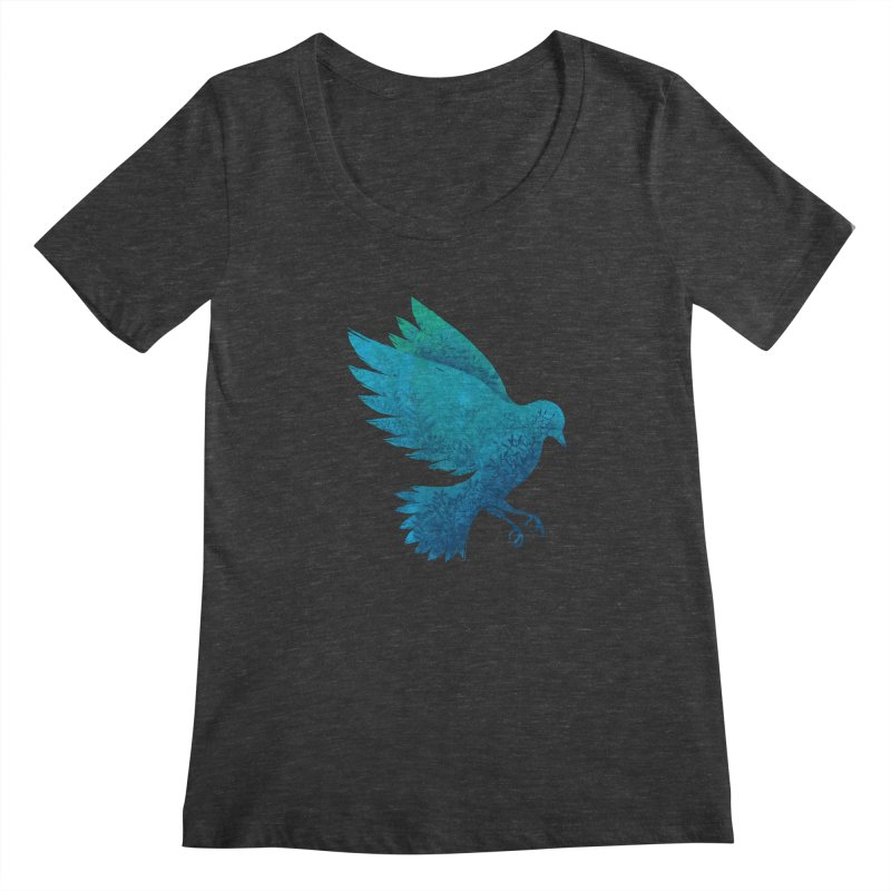 Birdy Bird Women's Scoopneck by Fil Gouvea's Artist Shop