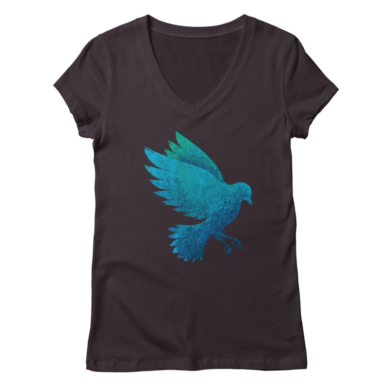 Birdy Bird Women's V-Neck by Fil Gouvea's Artist Shop