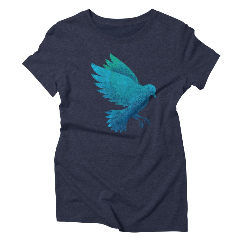 Birdy Bird in Women's Triblend T-shirt Navy by Fil Gouvea's Artist Shop