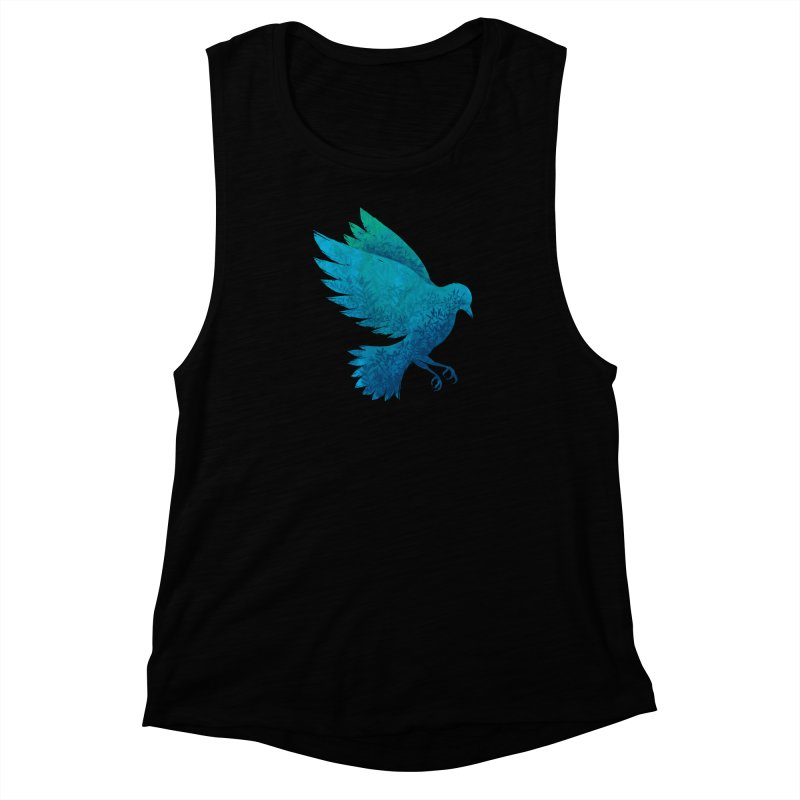 Birdy Bird Women's Muscle Tank by Fil Gouvea's Artist Shop