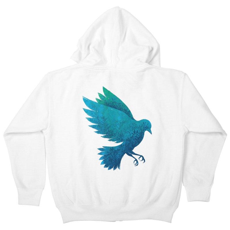 Birdy Bird Kids Zip-Up Hoody by Fil Gouvea's Artist Shop