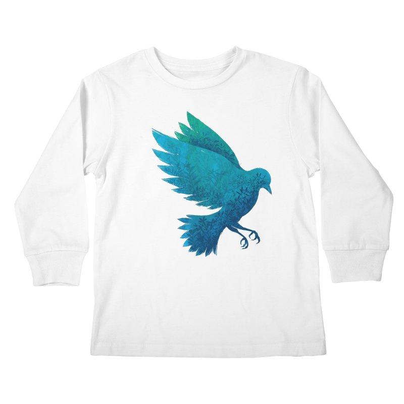 Birdy Bird Kids Longsleeve T-Shirt by Fil Gouvea's Artist Shop