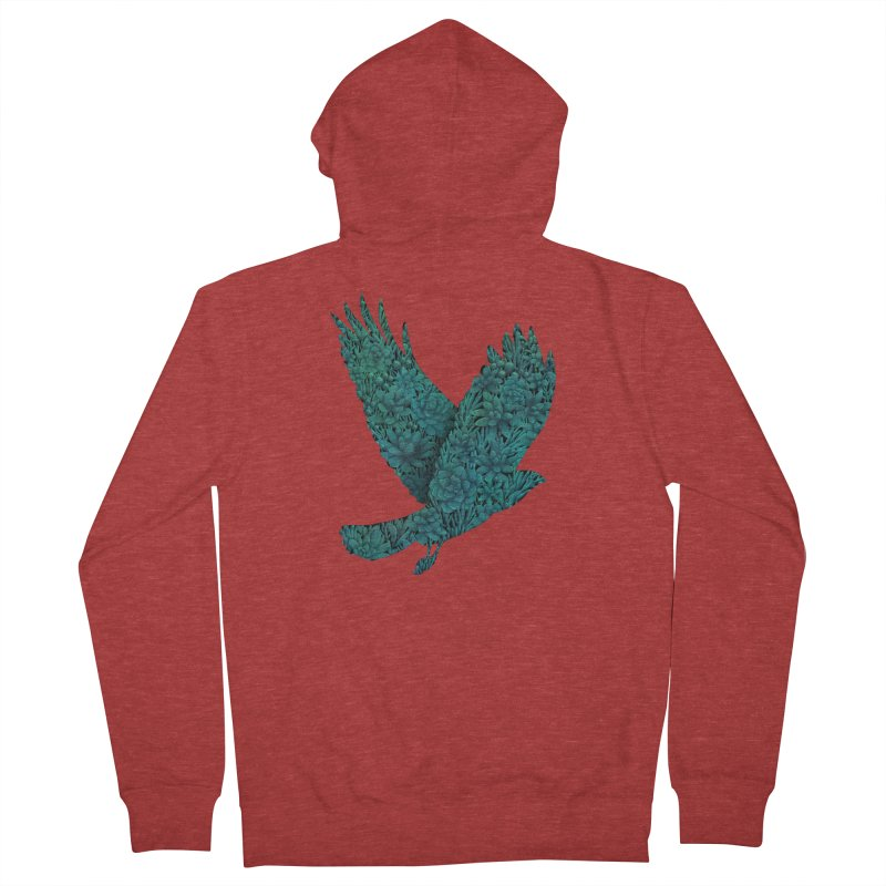 Blue Bird Women's Zip-Up Hoody by Fil Gouvea's Artist Shop