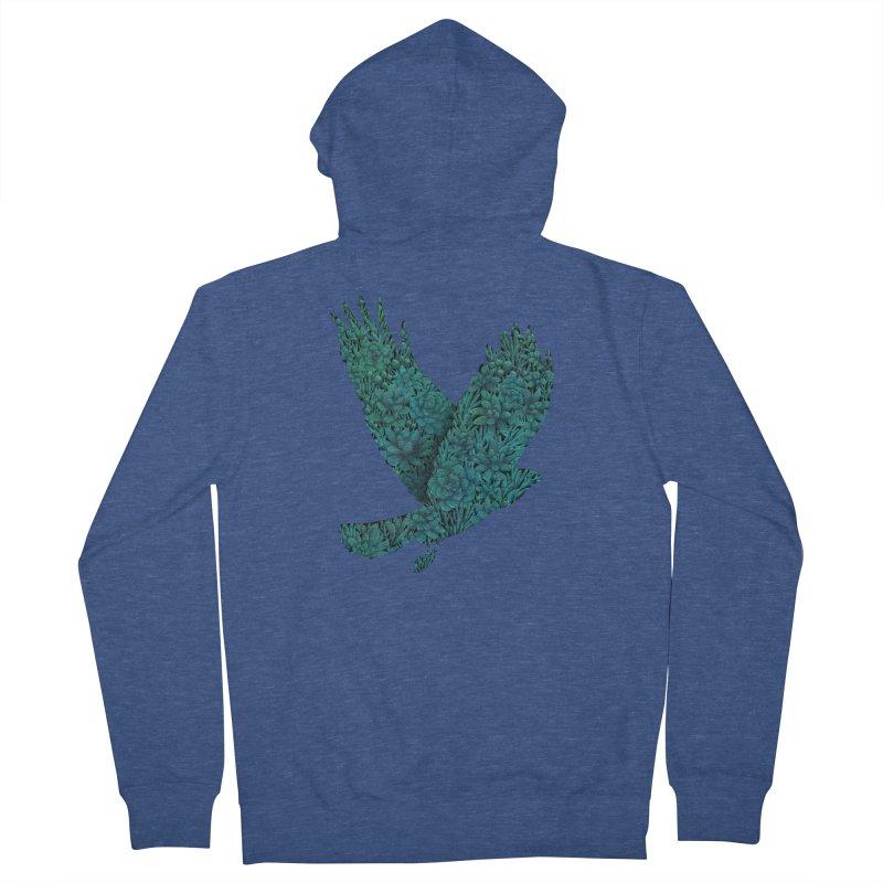 Blue Bird Men's Zip-Up Hoody by Fil Gouvea's Artist Shop