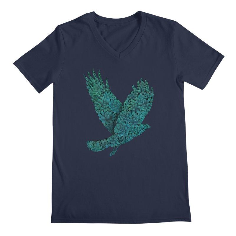 Blue Bird Men's V-Neck by Fil Gouvea's Artist Shop