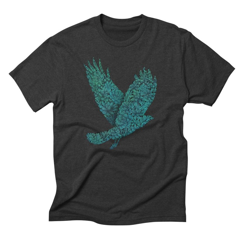 Blue Bird in Men's Triblend T-shirt Heather Onyx by Fil Gouvea's Artist Shop