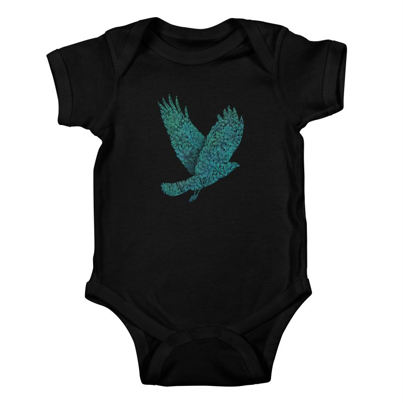 Blue Bird Kids Baby Bodysuit by Fil Gouvea's Artist Shop