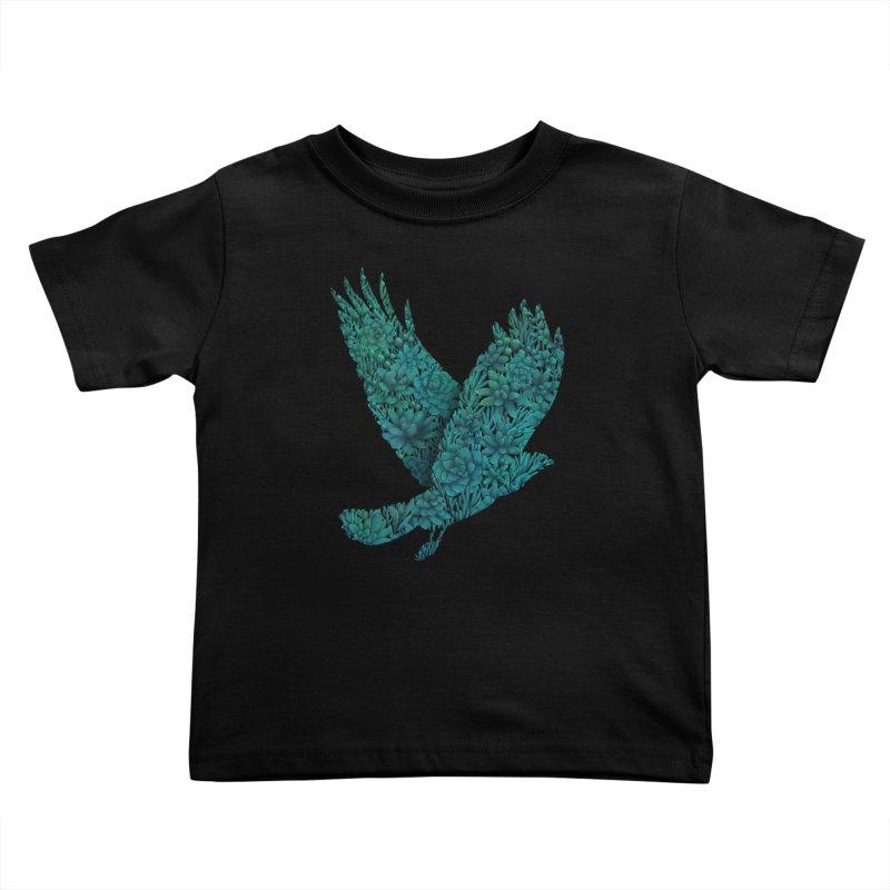 Blue Bird Kids Toddler T-Shirt by Fil Gouvea's Artist Shop