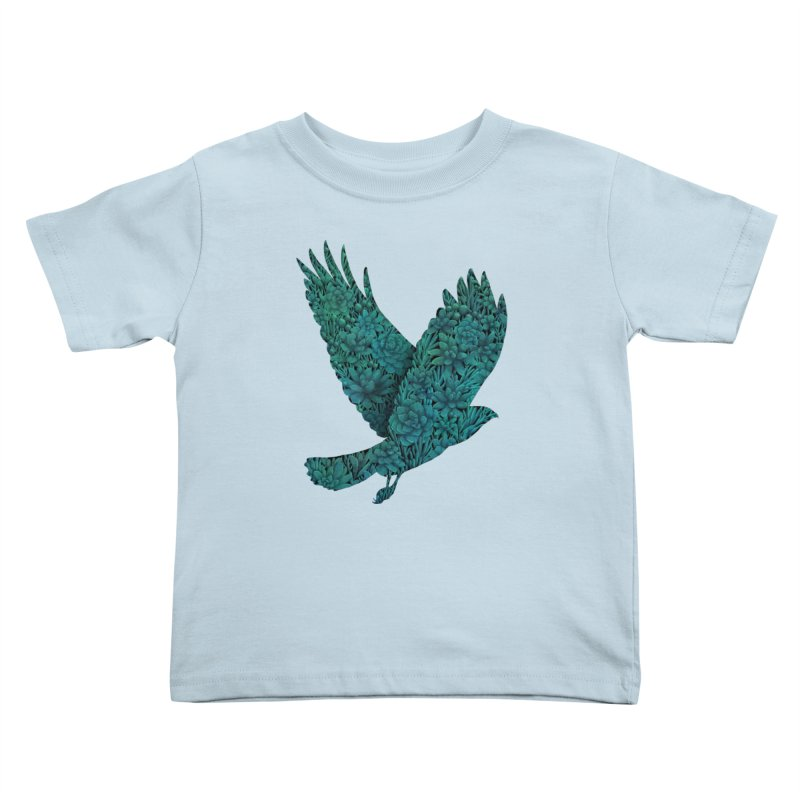 Blue Bird Kids Toddler T-Shirt by Fil Gouvea's Artist Shop