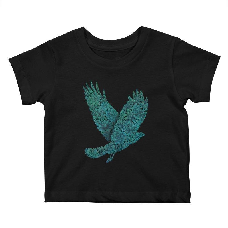 Blue Bird Kids Baby T-Shirt by Fil Gouvea's Artist Shop