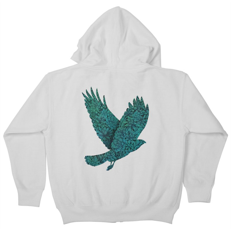Blue Bird Kids Zip-Up Hoody by Fil Gouvea's Artist Shop