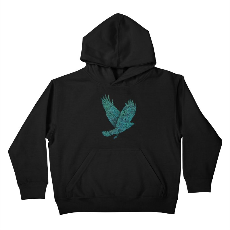 Blue Bird Kids Pullover Hoody by Fil Gouvea's Artist Shop