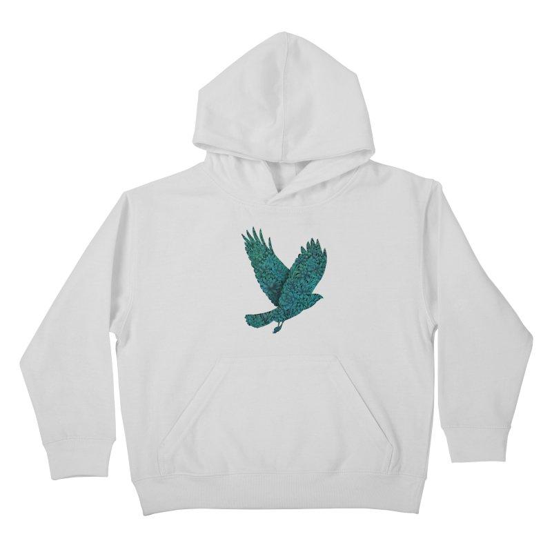 Blue Bird Kids Pullover Hoody by Fil Gouvea's Artist Shop