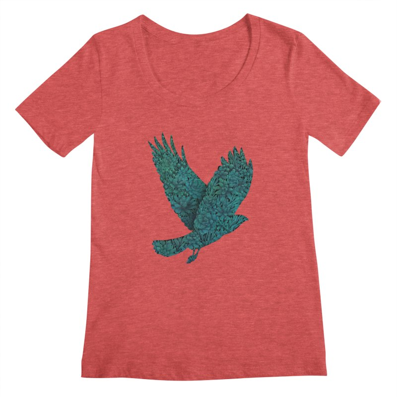 Blue Bird Women's Scoopneck by Fil Gouvea's Artist Shop